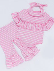 cheap -Baby Girls' Striped Short Sleeves Clothing Set