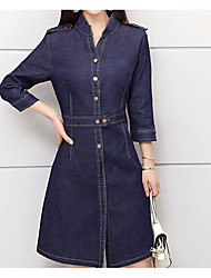 cheap -Women's Cute Bodycon Dress - Solid Colored