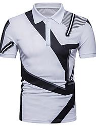 billige Herremode og tøj-Herre-Farveblok Basale T-shirt