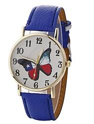 Недорогие -Жен. Модные часы Кварцевый Крупный циферблат PU Группа Аналоговый На каждый день Мода Черный / Белый / Синий - Красный Зеленый Синий Один год Срок службы батареи