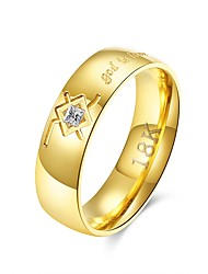 cheap -Men's Band Ring - Stainless Steel Rock 9 / 10 Gold For Daily / Work