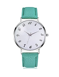 baratos -Homens Mulheres Quartzo Relógio Elegante Relógio de Moda Relógio Casual Chinês Cronógrafo Relógio Casual PU Banda Elegant Fashion Preta