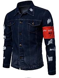 abordables -Veste en jean Homme-Peinture Basique Punk & Gothique