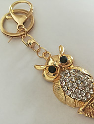 cheap -Owl Keychain Gold Imitation Diamond, Alloy Animals, Fashion For Daily