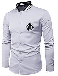 baratos -camisa básica dos homens em volta do pescoço