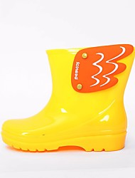baratos -Para Meninos / Para Meninas Sapatos Pele PVC Outono / Inverno Botas de Chuva Botas para Amarelo / Azul / Rosa claro