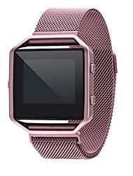 baratos -Pulseiras de Relógio para Fitbit Blaze Fitbit Pulseira Estilo Milanês Aço Inoxidável Tira de Pulso