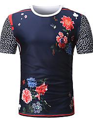 baratos -Homens Camiseta Moda de Rua Estampado, Estampa Colorida Retrato