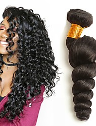 cheap -Brazilian Hair Wavy Human Hair Extensions 4 Bundles 8-28inch Human Hair Weaves Extention / Hot Sale Natural Black All