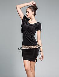 cheap -Women's Basic Batwing Sleeve Loose Bodycon / Sheath Dress - Leopard Bow