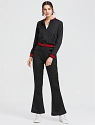 abordables -Mujer Trabajo Corto Sudadera - Un Color Alta cintura Pantalón