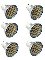 billiga -6pcs 4.5W 300lm GU10 LED-spotlights 27 LED-pärlor SMD 5050 Varmvit Kallvit 220-240V