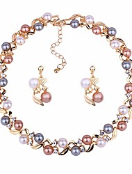 cheap -Women's Jewelry Set - Ball Classic, Fashion Include Drop Earrings / Choker Necklace Gold / Silver For Daily / Ceremony