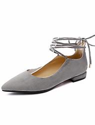 povoljno -Žene Cipele Nubuk koža Proljeće Jesen Balerinke Udobne cipele Ravne cipele Ravna potpetica za Kauzalni Crn Sive boje Marron