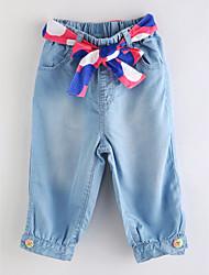 abordables -Un Color Chica de Primavera Verano Vestido Básico Azul Piscina
