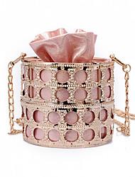 baratos -Mulheres Bolsas PU Bolsa de Ombro Botões para Festa / Eventos Prata / Vermelho / Rosa