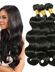 Недорогие -3 Связки Перуанские волосы Волнистый 8A Натуральные волосы Человека ткет Волосы Накладки из натуральных волос Естественный цвет Ткет человеческих волос Удлинитель Горячая распродажа