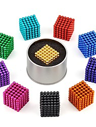Недорогие -216 pcs 5mm Магнитные игрушки Магнитные шарики Конструкторы Сильные магниты из редкоземельных металлов Неодимовый магнит Магнитный / Стресс и тревога помощи