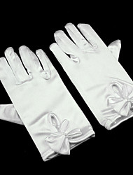 cheap -Spandex Wrist Length Glove Flower Girl Gloves With Butterfly Ruffles
