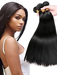 baratos -Cabelo Brasileiro Liso Extensões de Cabelo Natural Tramas de cabelo humano extensão / Venda imperdível Preto Natural Todos