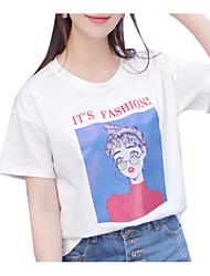 preiswerte -Damen Porträt-Street Schick T-shirt
