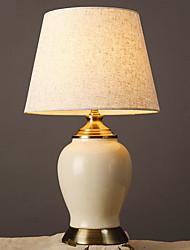 billiga -Artistisk Dekorativ Bordslampa Till Keramik Vit