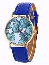 Недорогие -Жен. Модные часы Кварцевый Крупный циферблат PU Группа Аналоговый На каждый день Мода Черный / Белый / Синий - Коричневый Красный Синий Один год Срок службы батареи