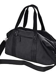 cheap -Men's Bags Leather / Canvas Tote Beading / Zipper Black / Brown