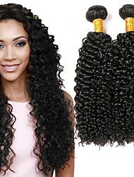 cheap -Malaysian Hair Curly Human Hair Weaves 50g x 4 Hot Sale Extention Natural Color Hair Weaves Human Hair Extensions All Christmas Gifts
