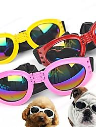baratos -Animais de Estimação Óculos de Sol Roupas para Cães Sólido Formais Personagem Preto Amarelo Vermelho Azul Rosa claro Plástico e metal