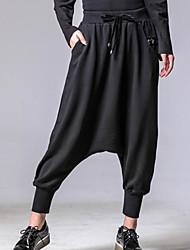 billige -Dame Vintage Harem Bukser Ensfarvet
