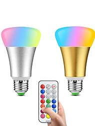 Недорогие -2pcs 10W 600lm E26 / E27 Умная LED лампа 32 Светодиодные бусины SMD 5050 Диммируемая Декоративная На пульте управления 85-265V