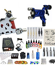 cheap -BaseKey Tattoo Machine Starter Kit - 2 pcs Tattoo Machines with 7 x 15 ml tattoo inks, Professional Level, Professional Alloy LCD power supply Case Not Included 20 W 1 steel machine liner & shader, 1