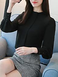 Недорогие -Жен. Рубашка Деловые Уличный стиль Однотонный