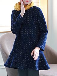 cheap -Kids Girls' Simple Casual / Daily Polka Dot Long Sleeve Dress / Cotton