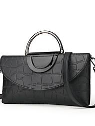 cheap -Women's Bags leatherette / PU Tote Zipper Red / Purple / Brown