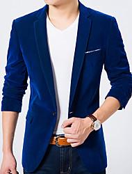 billige Herremode og tøj-Herre Ensfarvet Simple Blazer