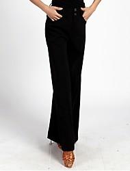 abordables -Danse de Salon Bas Femme Utilisation Spandex Ruché Taille haute Pantalon