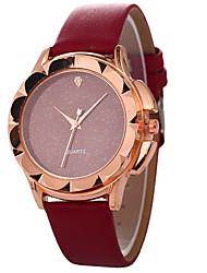 baratos -Mulheres Quartzo Relógio de Moda Chinês Relógio Casual PU Banda Colorido Fashion Preta Branco Vermelho Marrom Cinza