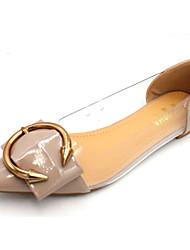 cheap -Women's Shoes PU(Polyurethane) Spring / Fall Comfort / Ballerina Flats Low Heel Almond / Khaki