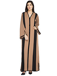 cheap -Women's Sophisticated Street chic Shift Swing Abaya Dress - Solid Colored, Lace up