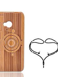 Недорогие -Кейс для Назначение HTC One M7 Защита от удара Кейс на заднюю панель Геометрический рисунок Твердый Бамбук для HTC One M7