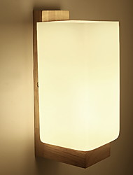 cheap -Anti-Glare Rustic / Lodge Wall Lamps & Sconces Living Room Wood / Bamboo Wall Light 220-240V 40W