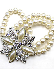 cheap -Women's Bracelet Bangles - Crystal, Imitation Pearl, Silver Plated Bracelet Silver For Wedding