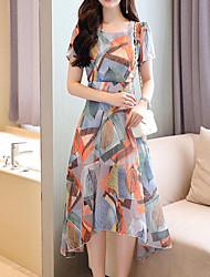 economico -Per donna sofisticato Moda città Fodero Vestito A quadri Medio Al ginocchio