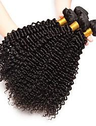 Недорогие -4 Связки Бразильские волосы Кудрявый Натуральные волосы Накладки из натуральных волос Естественный цвет Ткет человеческих волос Удлинитель / Горячая распродажа Расширения человеческих волос Все