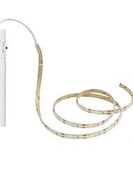 Недорогие -1 комплект LED Night Light Тёплый белый Аккумуляторы AAA Можно резать / Датчик человеческого тела / чулан Батарея