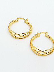 cheap -Women's Hoop Earrings - Gold Plated Wave European Gold / Golden For Party / Evening / Gift
