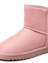 baratos -Mulheres Sapatos Micofibra Sintética PU Inverno Botas de Neve Botas Sem Salto Botas Curtas / Ankle Preto / Cinzento / Rosa claro