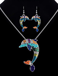 cheap -Women's Jewelry Set - Dolphin Ethnic, Colorful Include Rainbow For Club / Bar